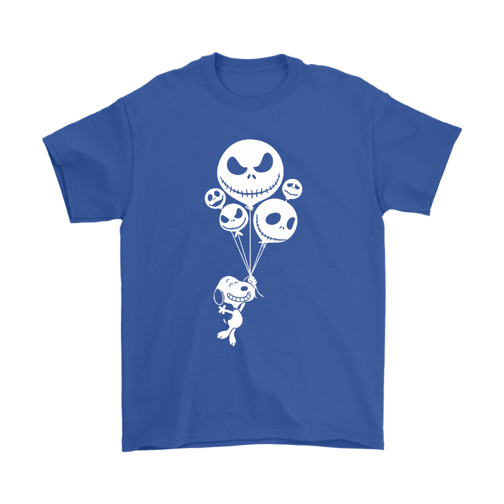 Snoopy Flying Up With Jack Skellington Balloons Shirts 5