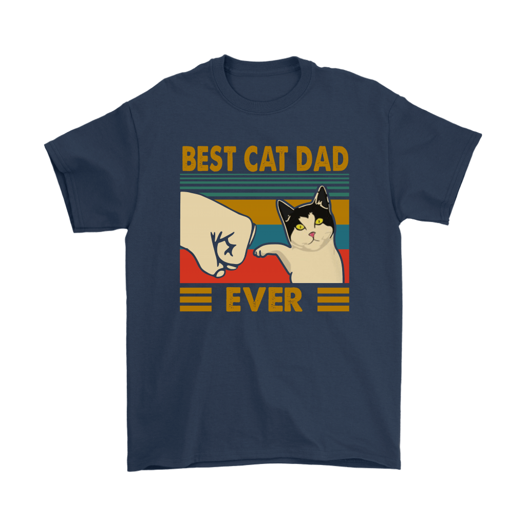Best Cat Dad Ever Fist Bump With Cat Vintage Shirts 3