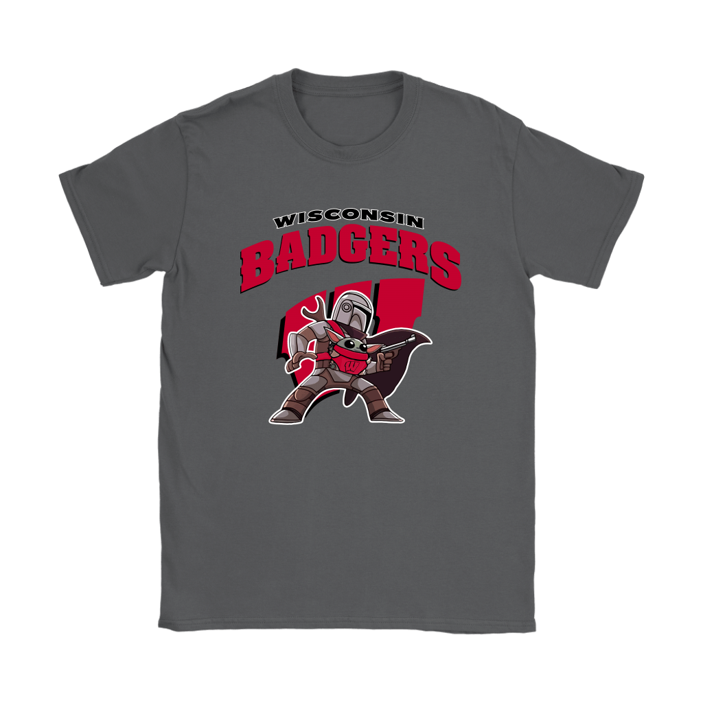 The Mandalorian & Baby Yoda Wisconsin Badgers NCAA Shirts 9