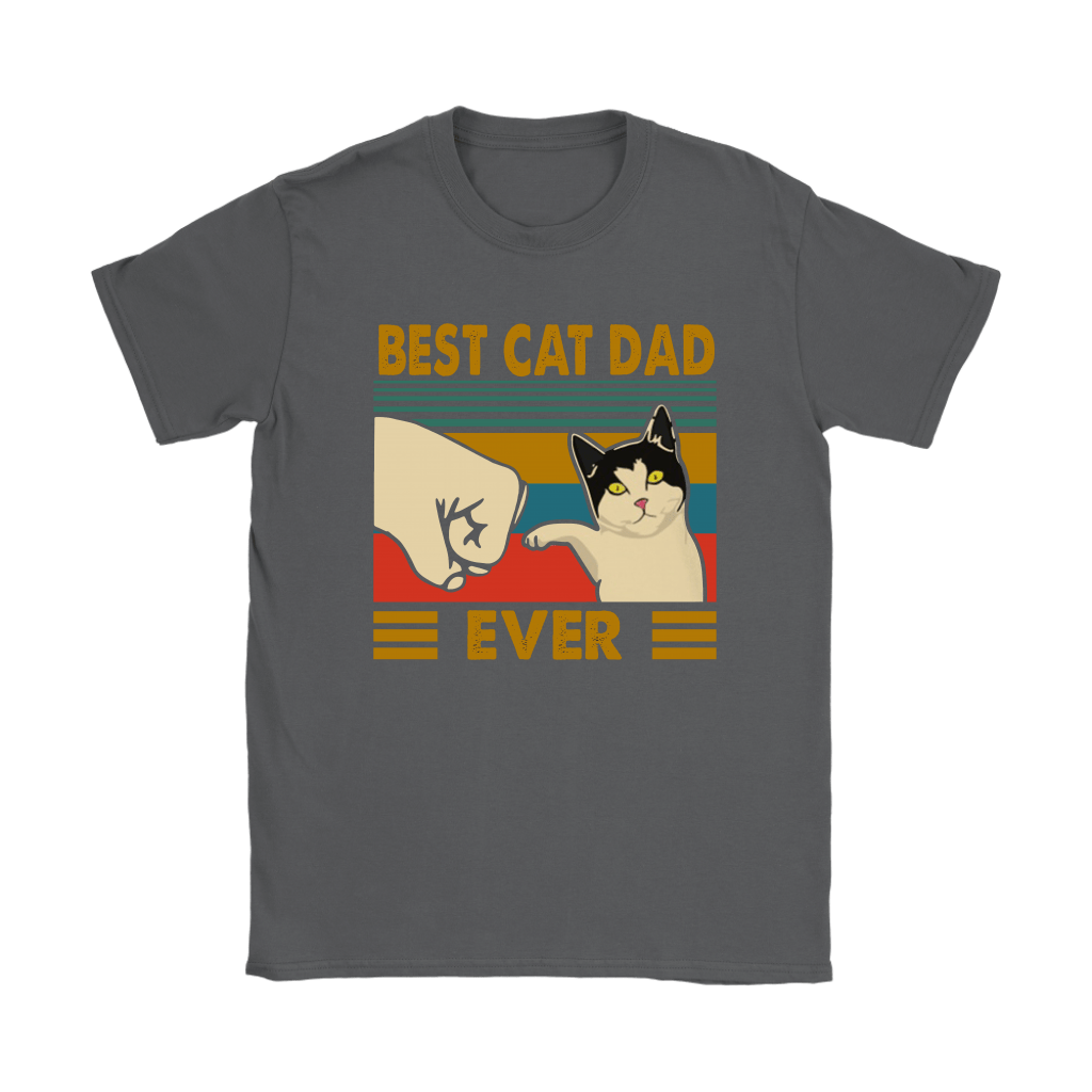 Best Cat Dad Ever Fist Bump With Cat Vintage Shirts 7