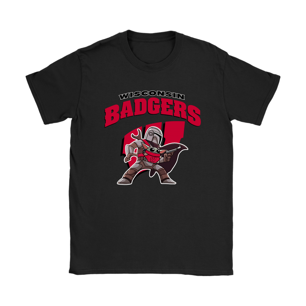 The Mandalorian & Baby Yoda Wisconsin Badgers NCAA Shirts 8