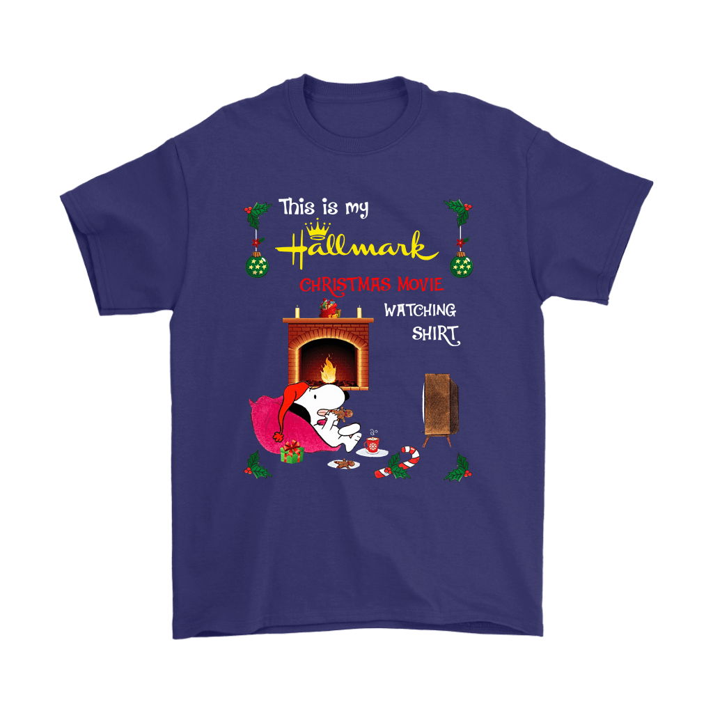 Snoopy This Is My Hallmark Christmas Movie Watching Shirts 4