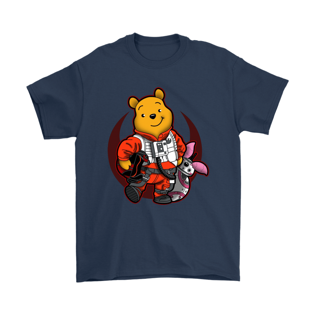 Winnie The Pooh And Piglet As Luke And BB-8 Star Wars Shirts 3