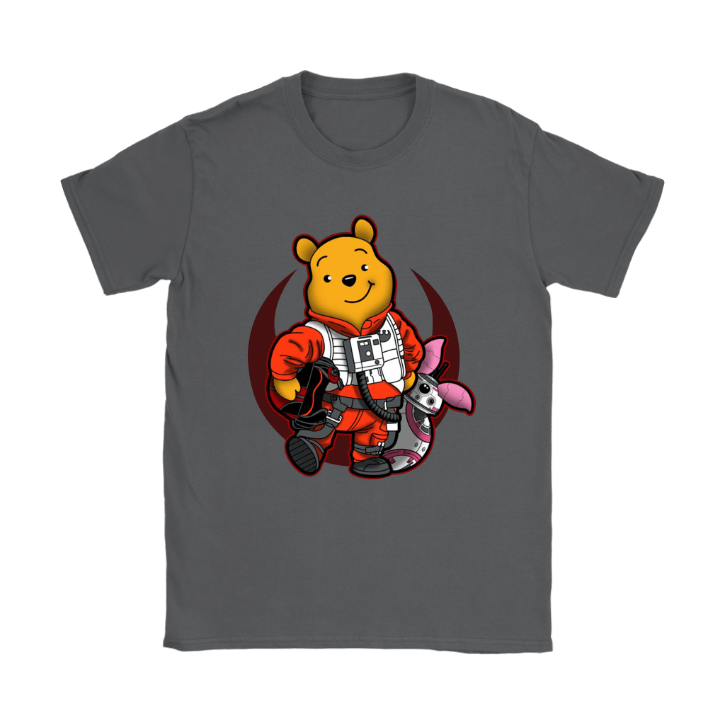 Winnie The Pooh And Piglet As Luke And BB-8 Star Wars Shirts 22