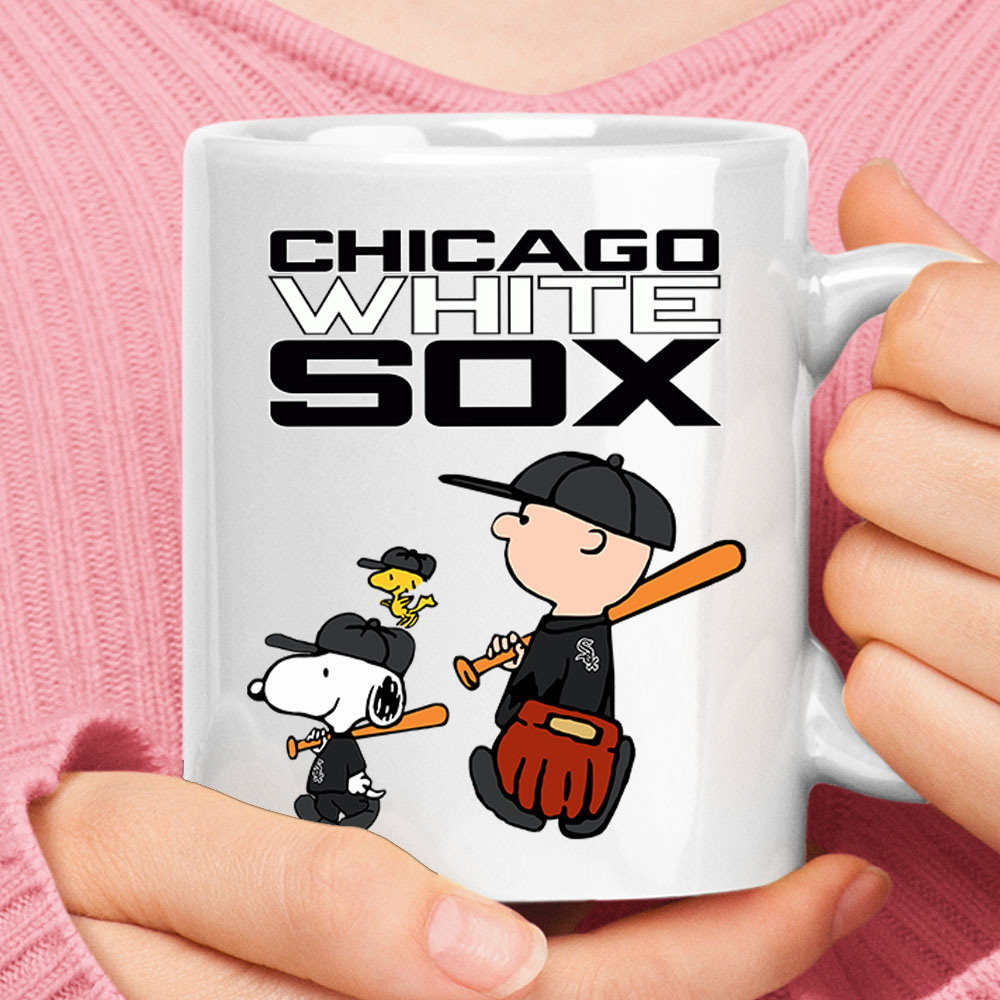 Chicago White Sox Let's Play Baseball Together Snoopy MLB Mug 1
