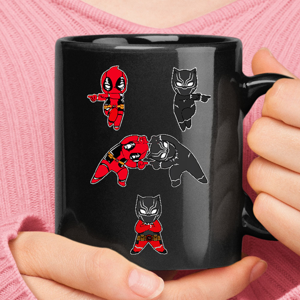 Deadpool And Black Panther Fusion Dance Mug 1