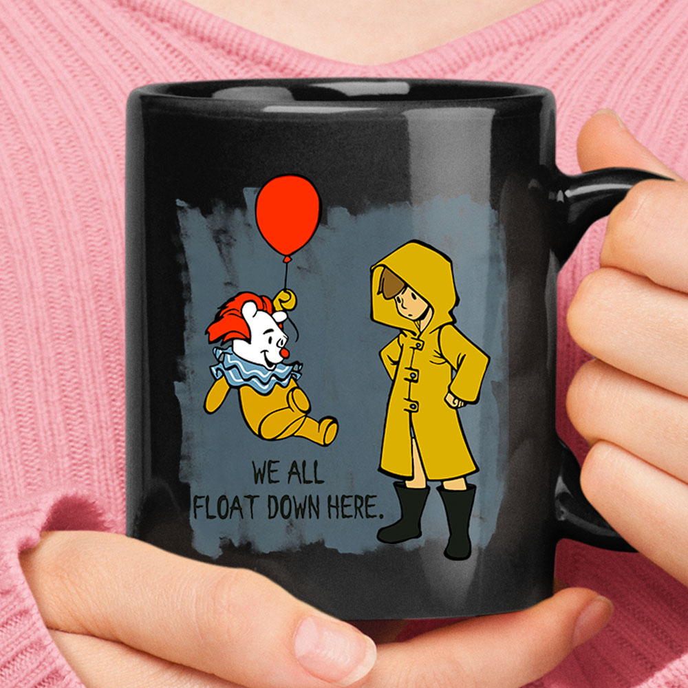 Winnie The Pooh Pennywise We All Float Down Here Mug 1