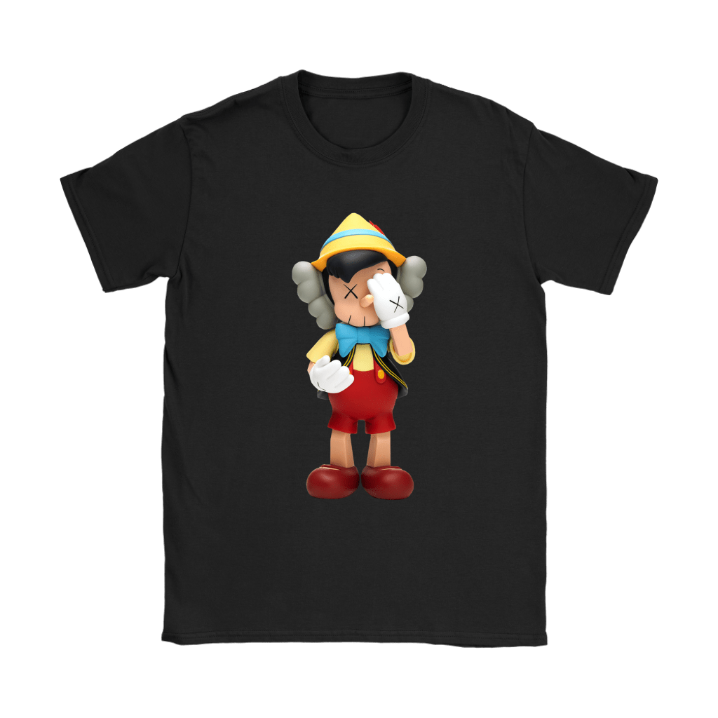 Pinocchio KAWS Touchs His Face Shirts 8