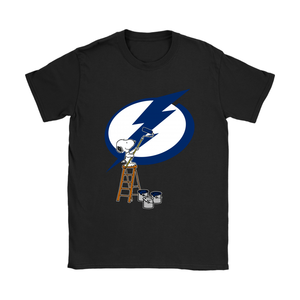 snoopy paints the tampa bay lightning logo nhl ice hockey shirts nfl t shirts store nfl t shirts store