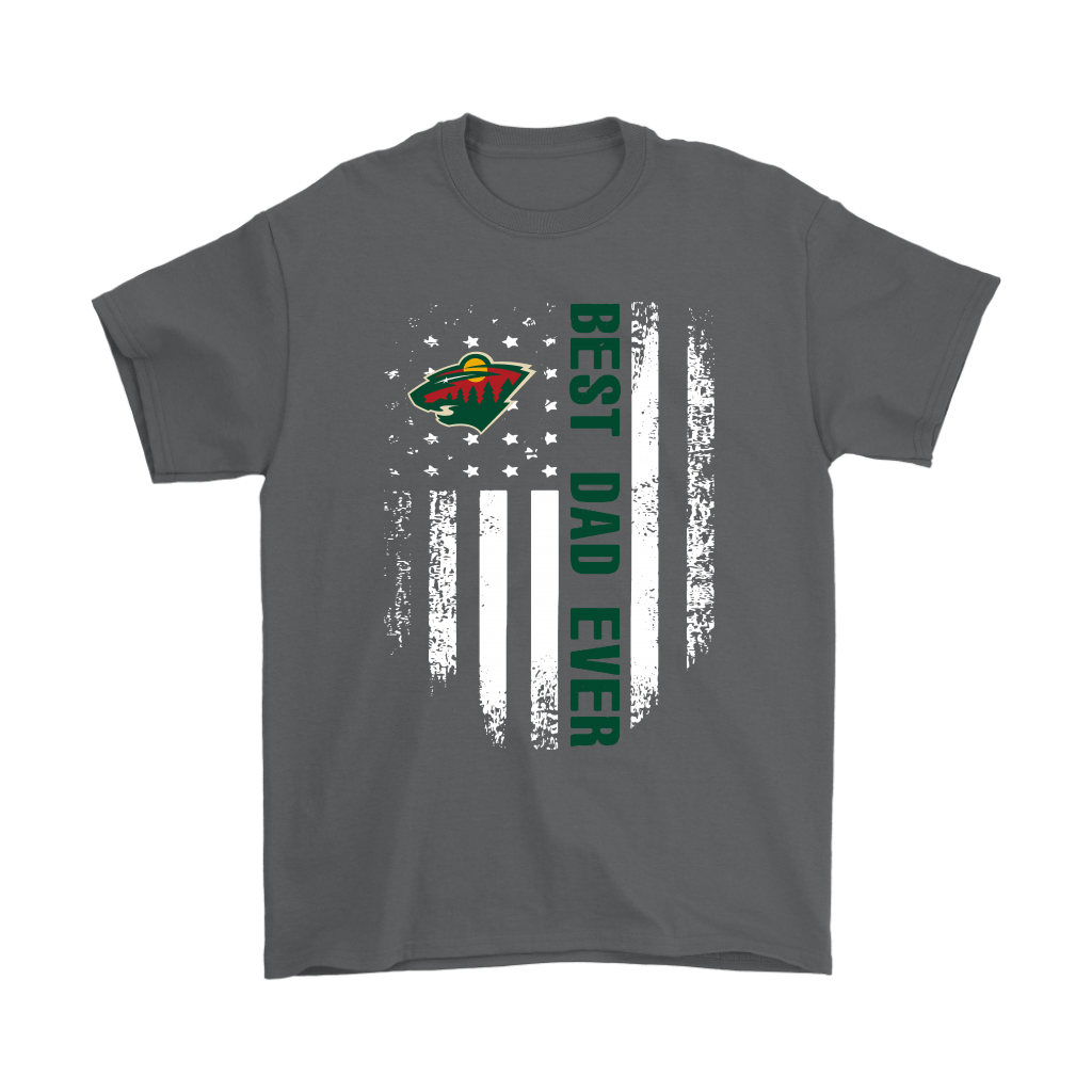 American Flag Best Dad Ever The Minnesota Wild Father Shirts 2