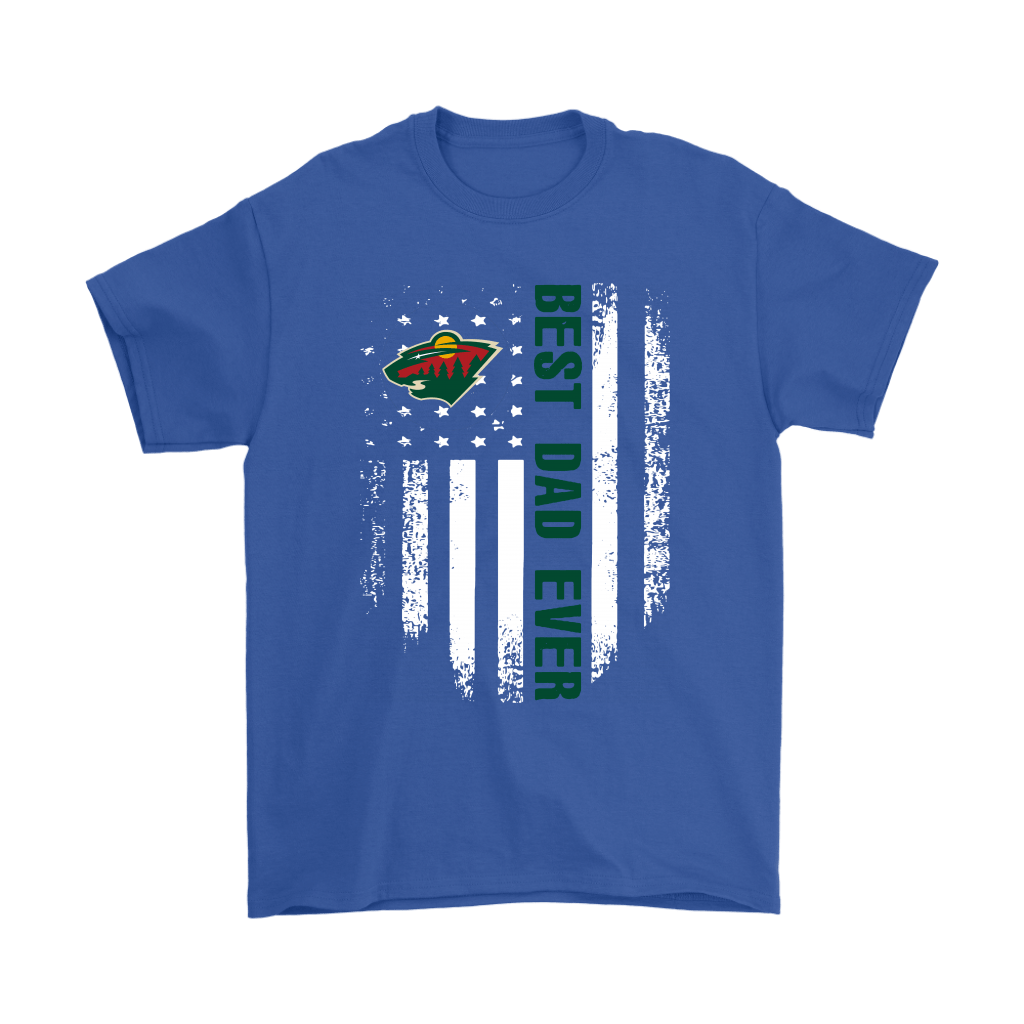 American Flag Best Dad Ever The Minnesota Wild Father Shirts 5