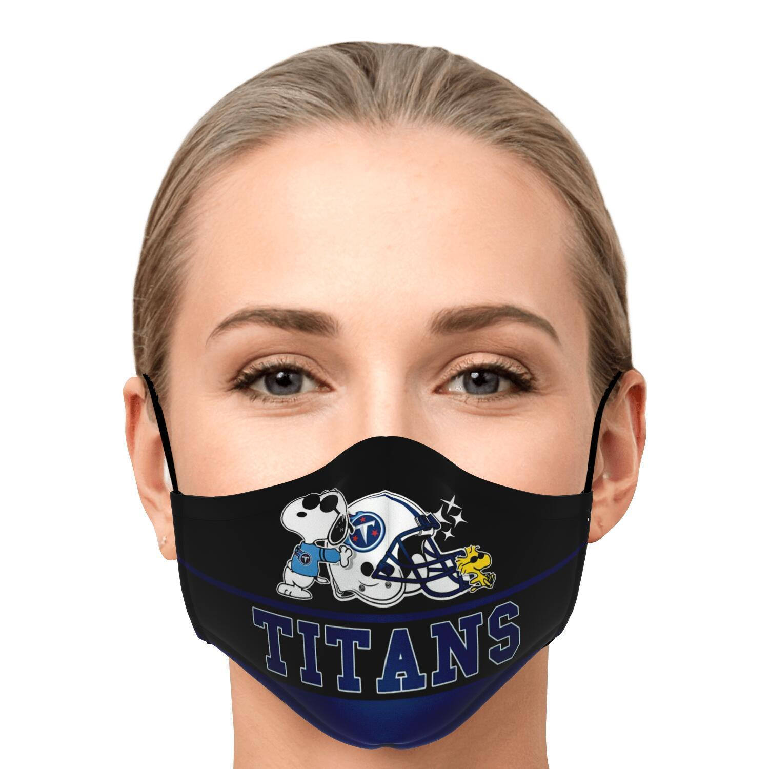 Snoopy Joe Cool Tennessee Titans Face Mask 1