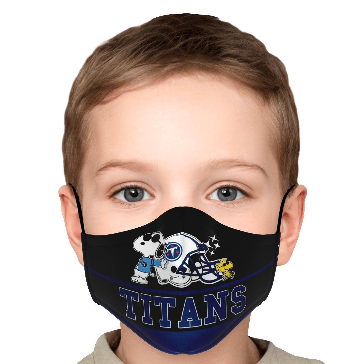 Snoopy Joe Cool Tennessee Titans Face Mask 5