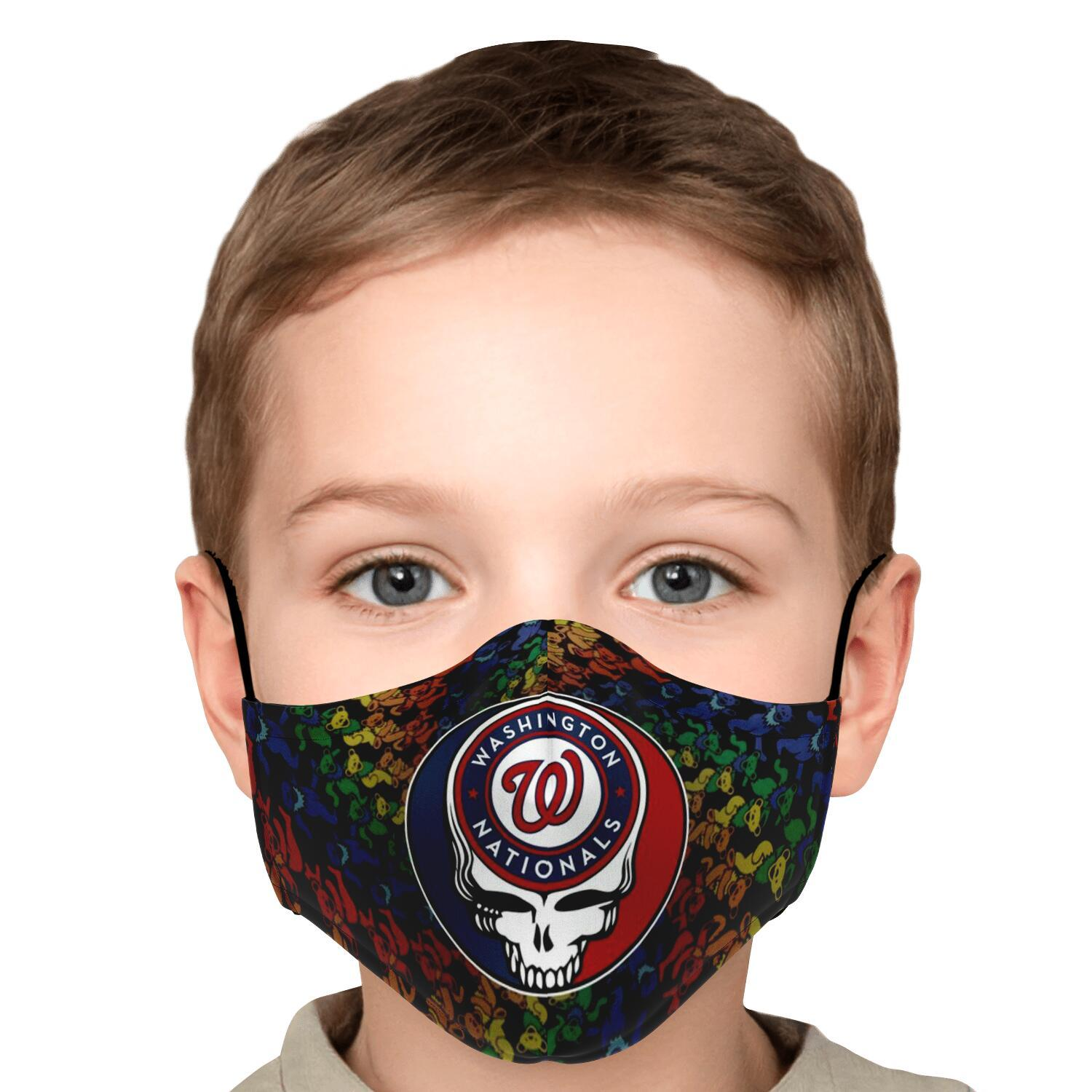 Steal Your Face Grateful Dead Washington Nationals Face Mask 5