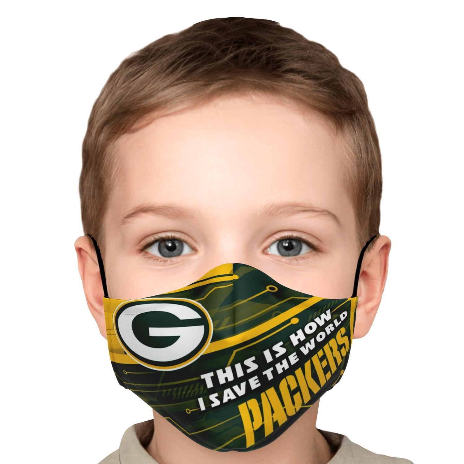 This Is How I Save The World Green Bay Packers Face Masks 6