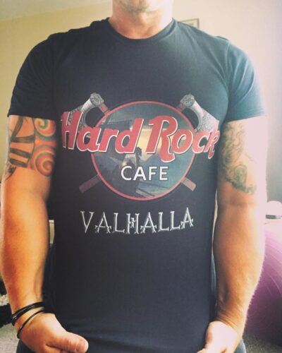 Hard Rock Cafe Valhalla Vikings Shirts photo review