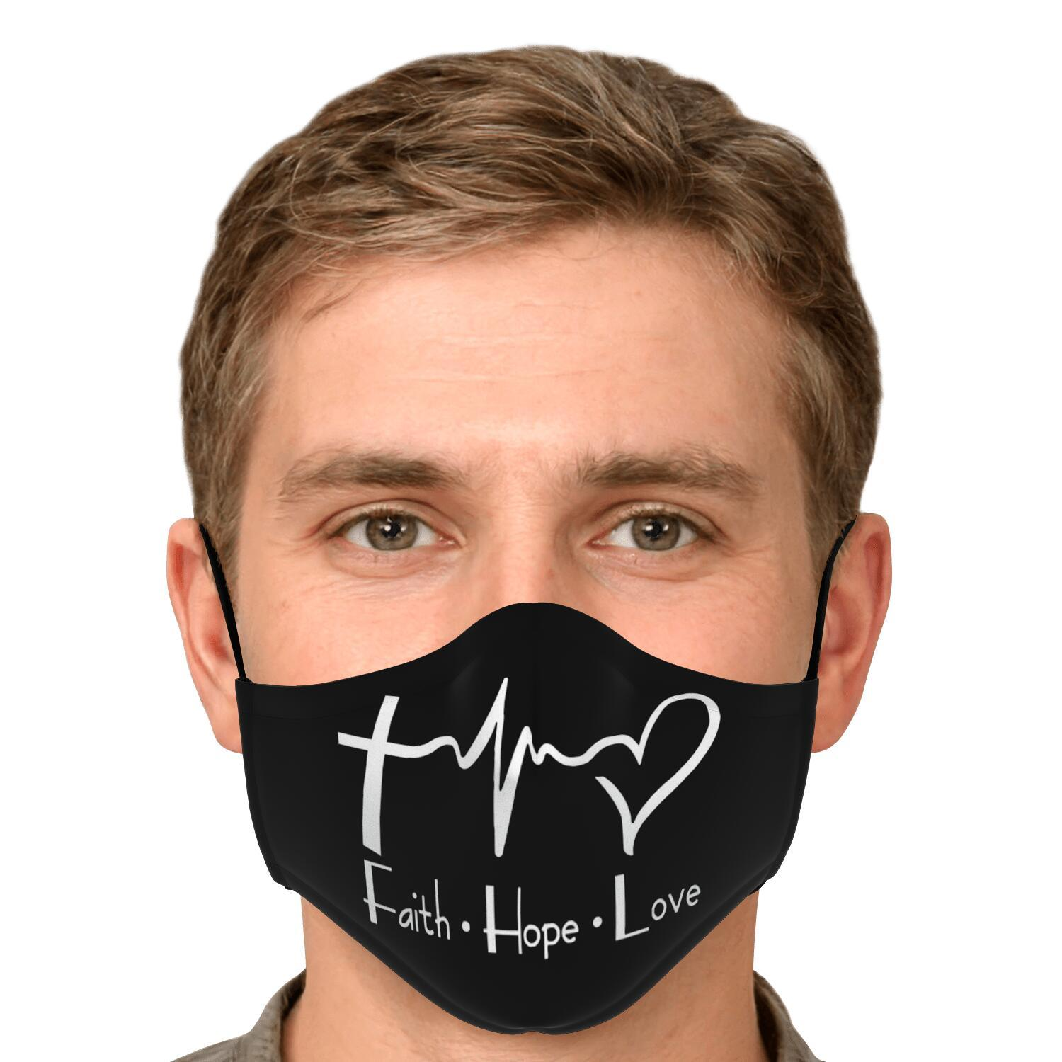Faith Hope And Love Face Mask 4