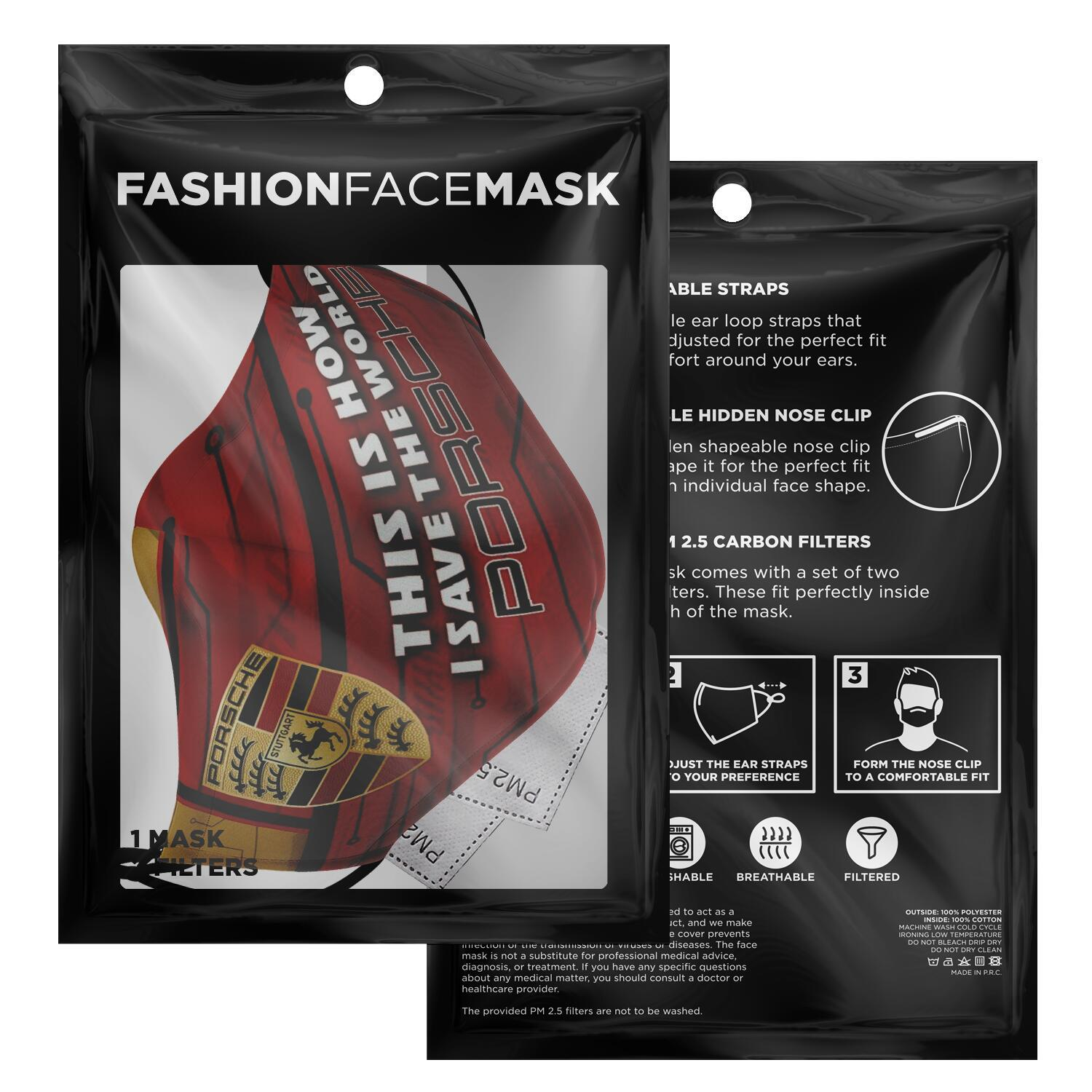 This Is How I Save The World Porsche Face Masks 2