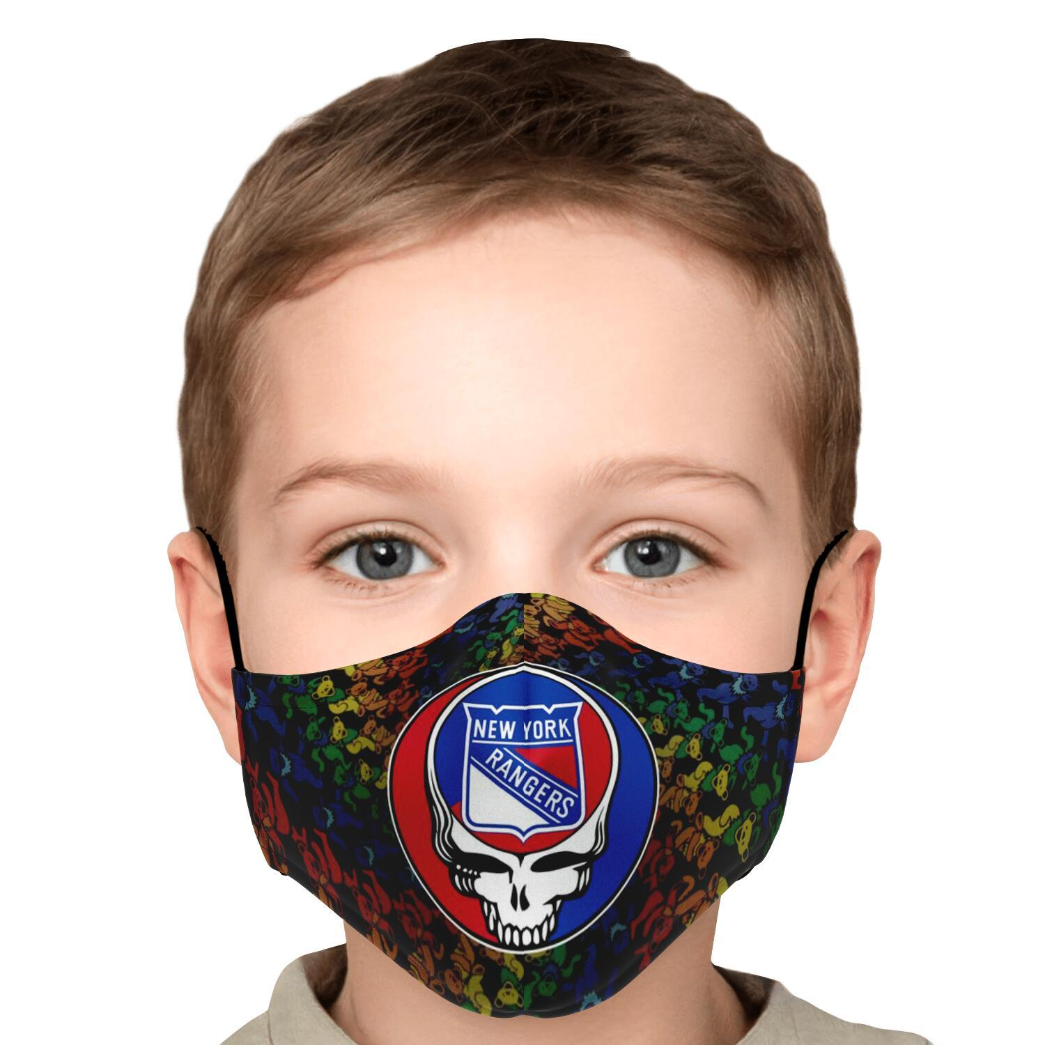 Steal Your Face Grateful Dead New York Rangers Face Mask 5