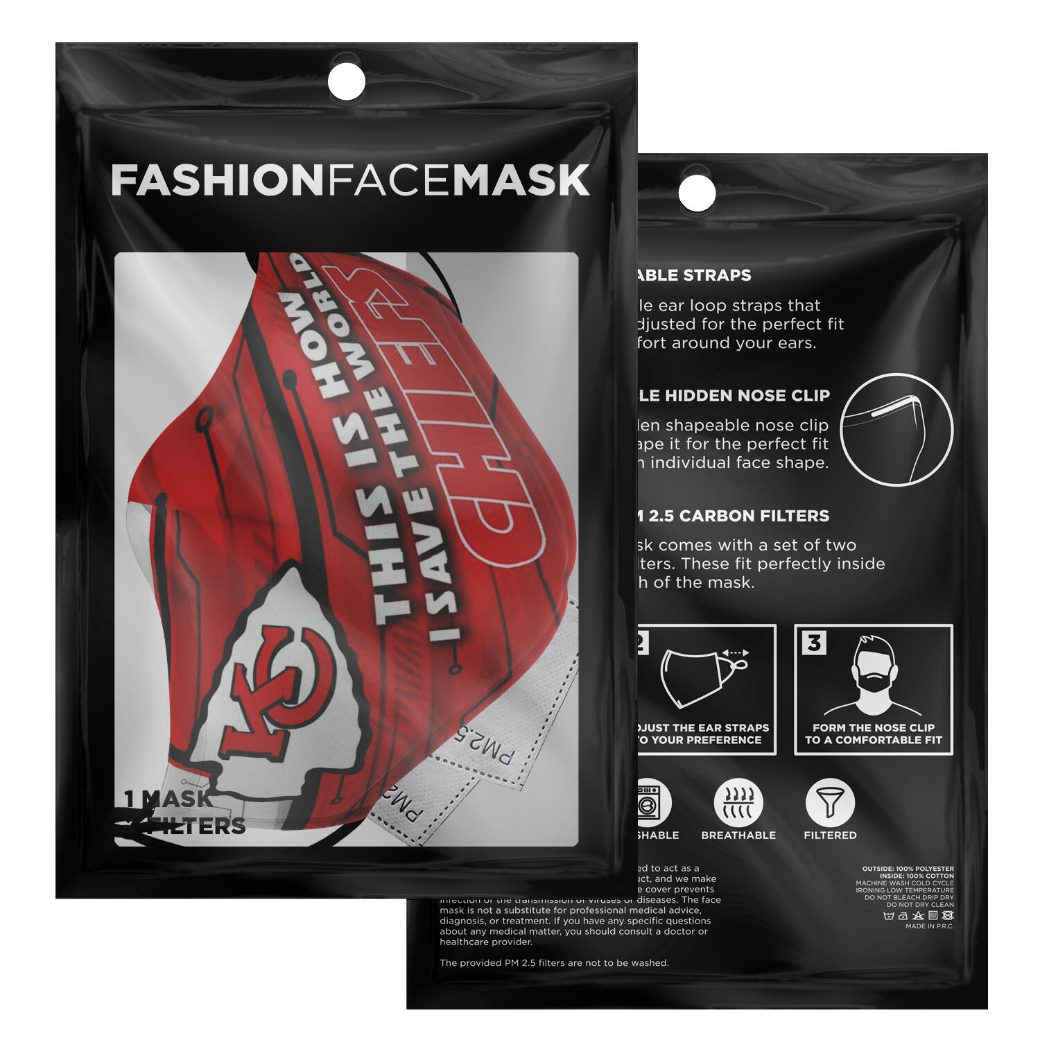 This Is How I Save The World Kansas City Chiefs Face Masks 2