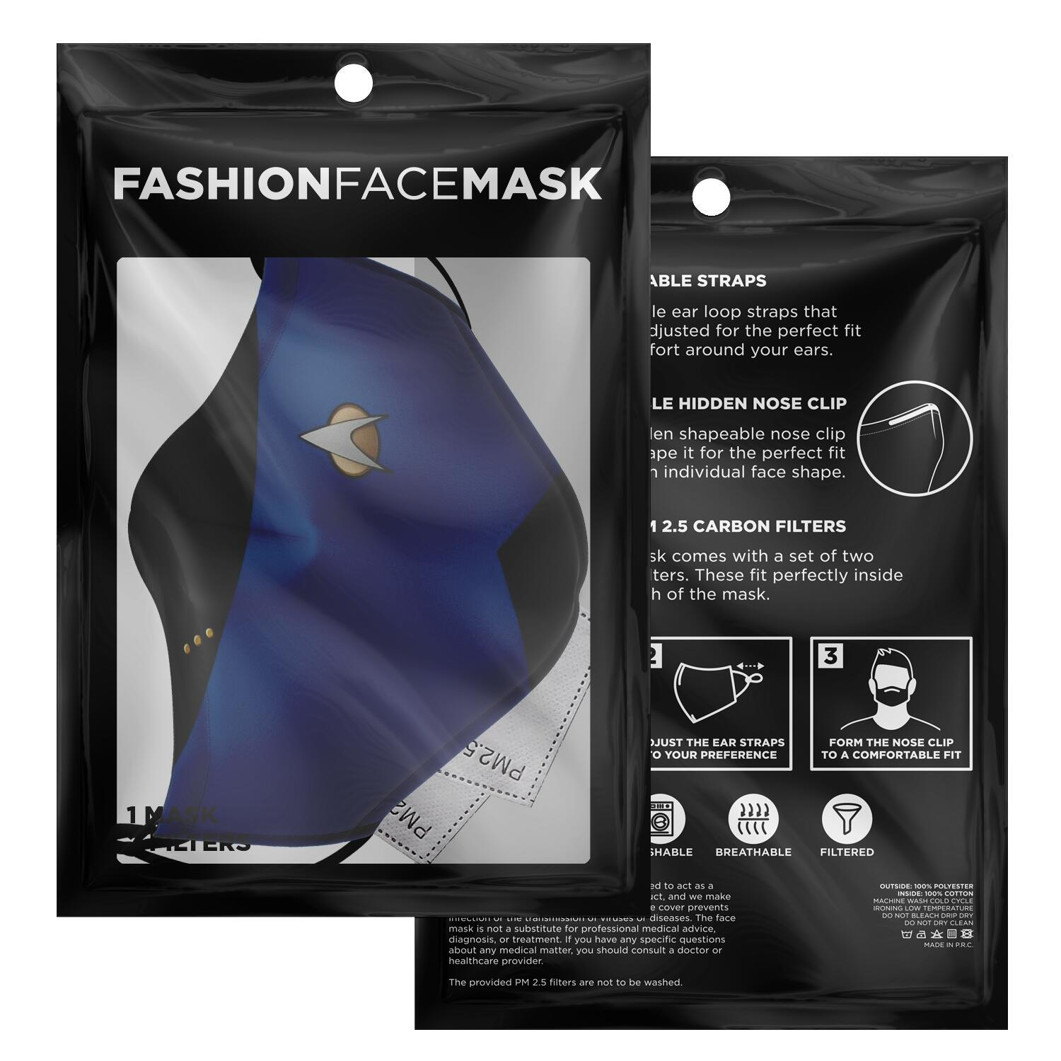 Star Trek Blue Shirt Face Mask 2