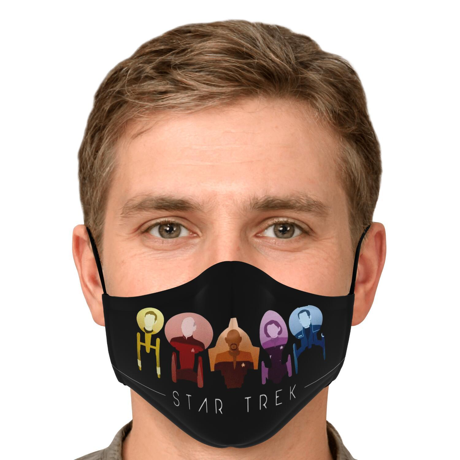 Starfleet Captains Star Trek Face Mask 4