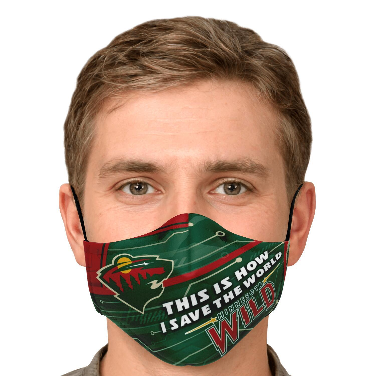 This Is How I Save The World Minnesota Wild Face Masks 4