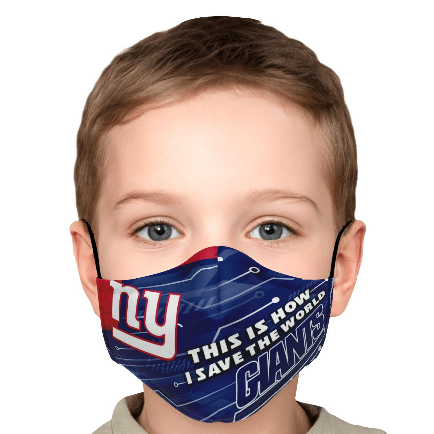 This Is How I Save The World New York Giants Face Masks 5