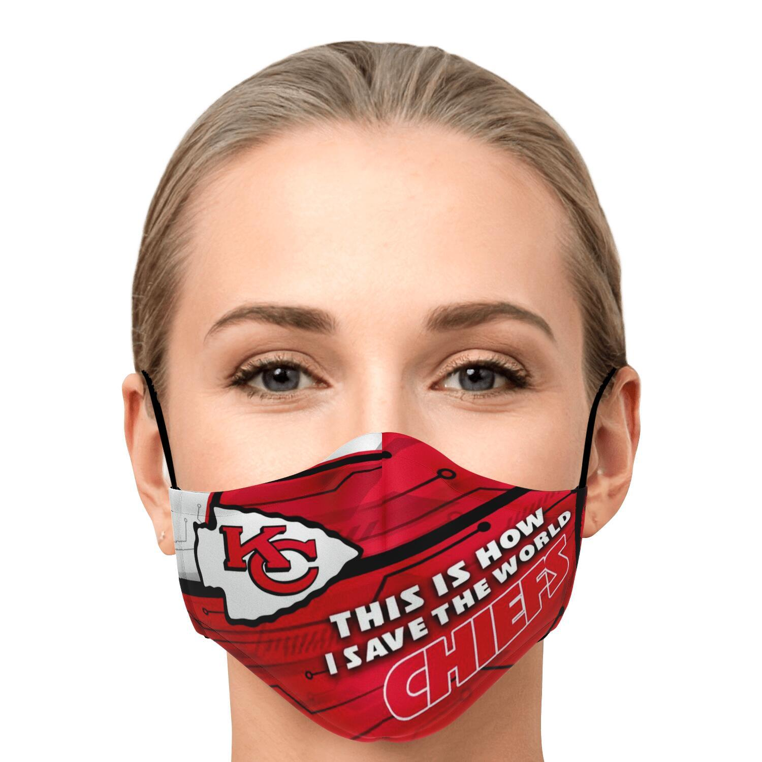 This Is How I Save The World Kansas City Chiefs Face Masks 1