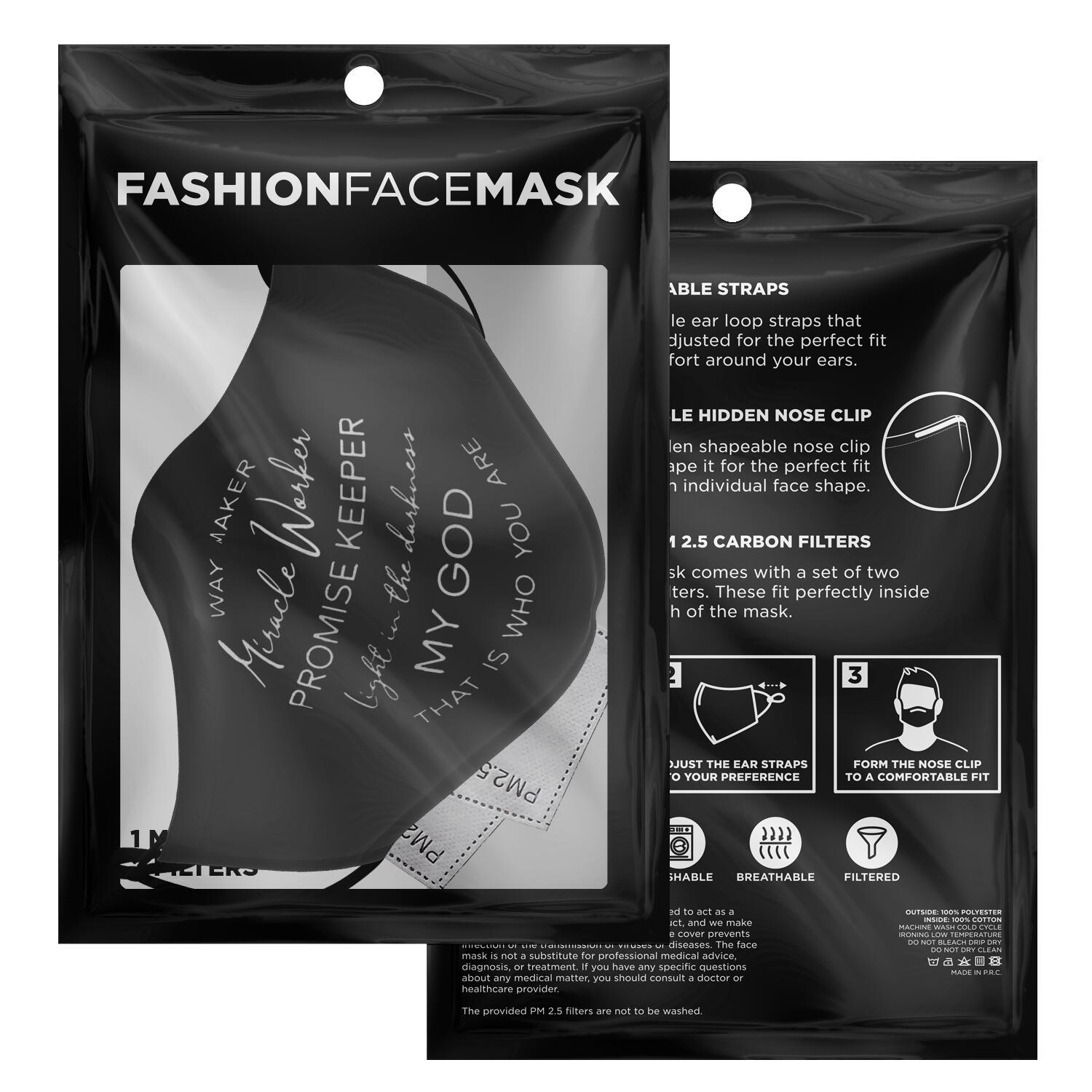 Way Maker Miracle Workers Promise Keeper Face Mask 2