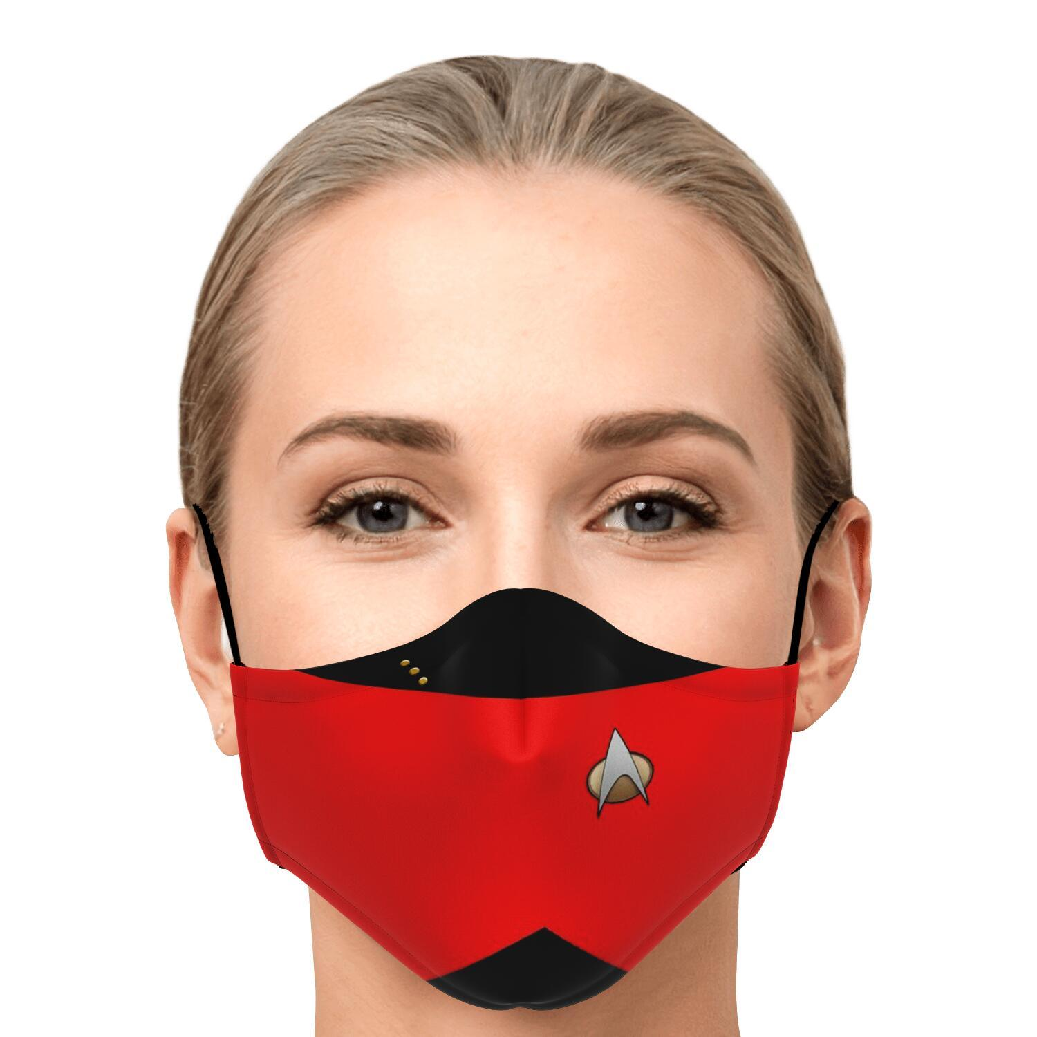 Star Trek Red Shirt Face Mask 1