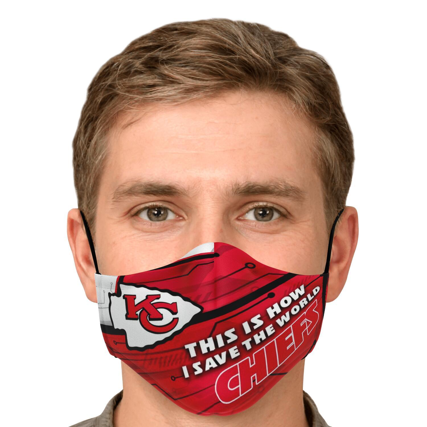 This Is How I Save The World Kansas City Chiefs Face Masks 4