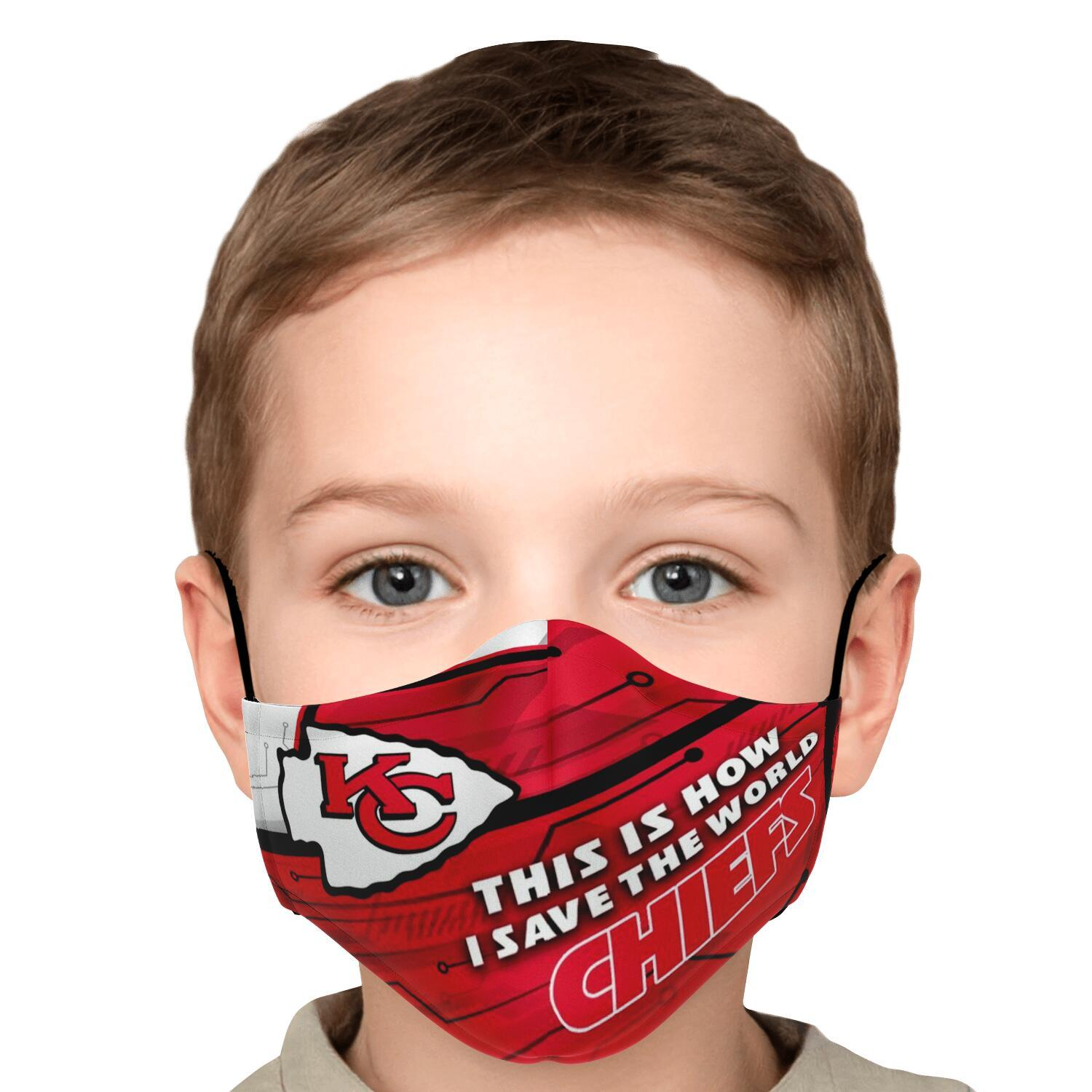 This Is How I Save The World Kansas City Chiefs Face Masks 5