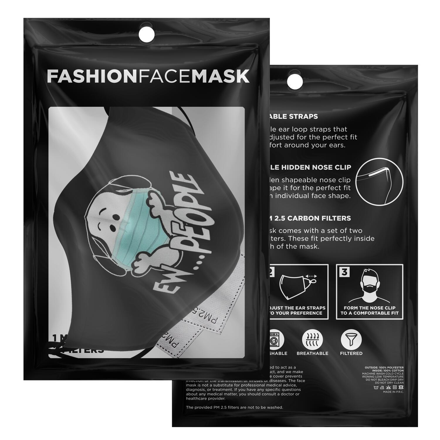 Ew People Snoopy Face Mask 2