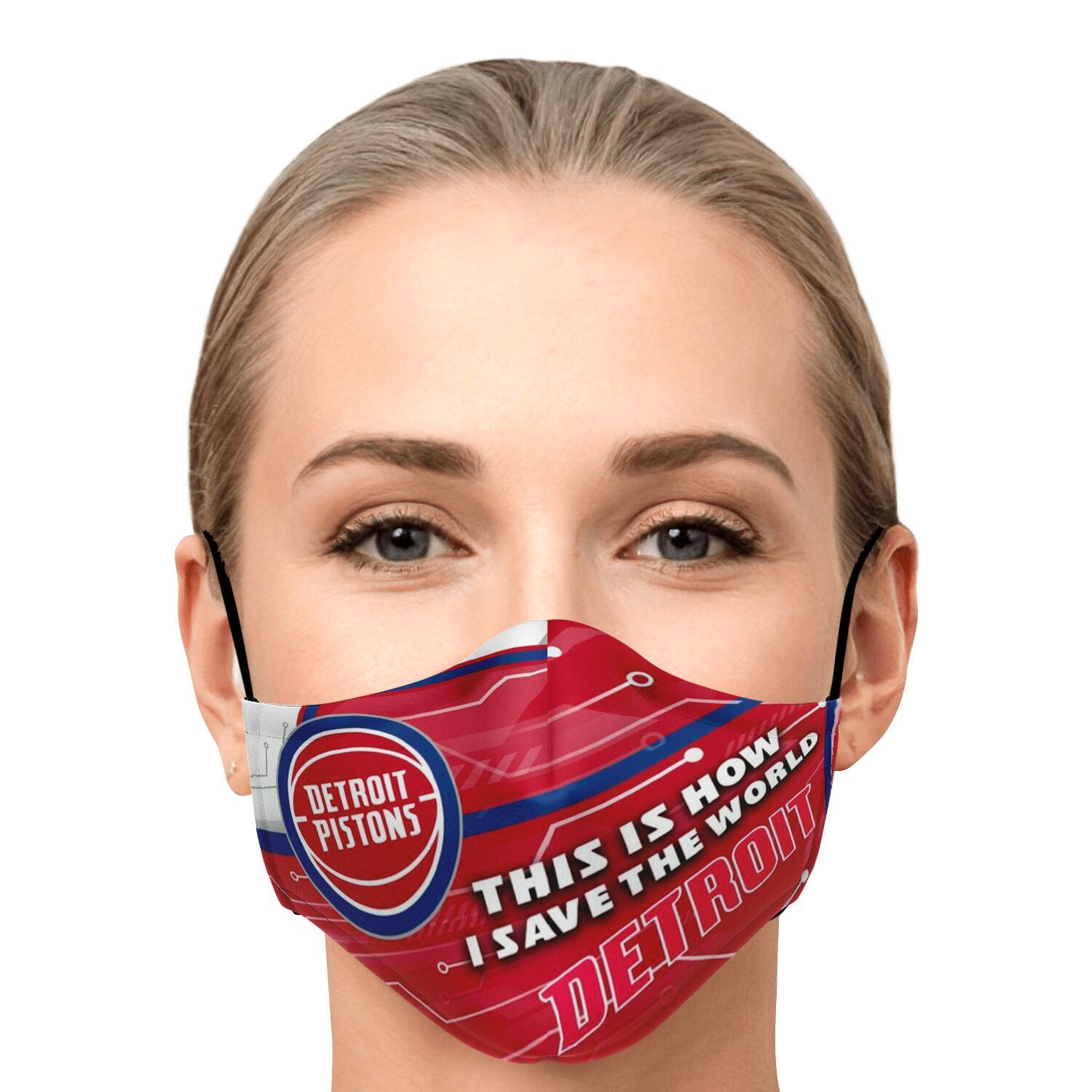 This Is How I Save The World Detroit Pistons Face Masks 1