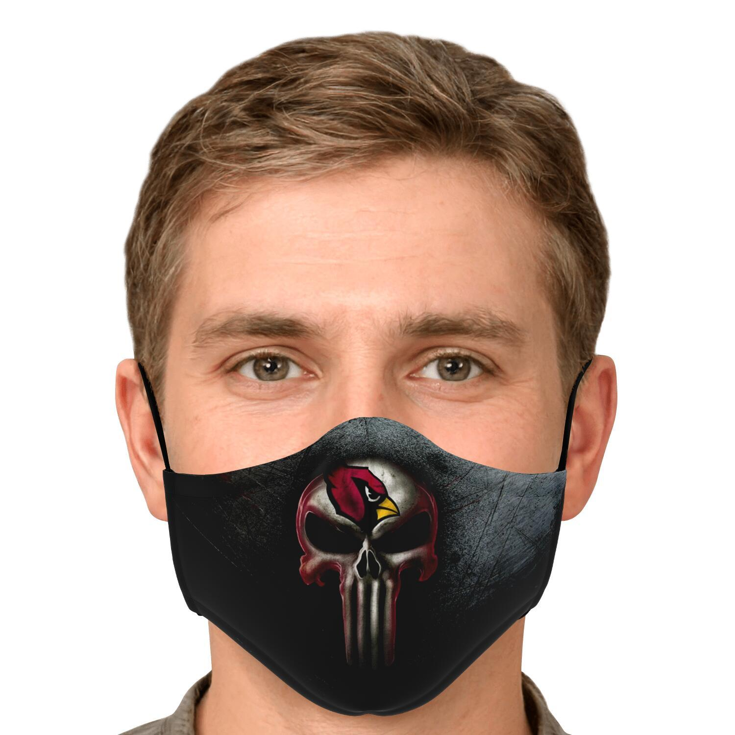 Arizona Cardinals The Punisher Mashup Face Mask 4