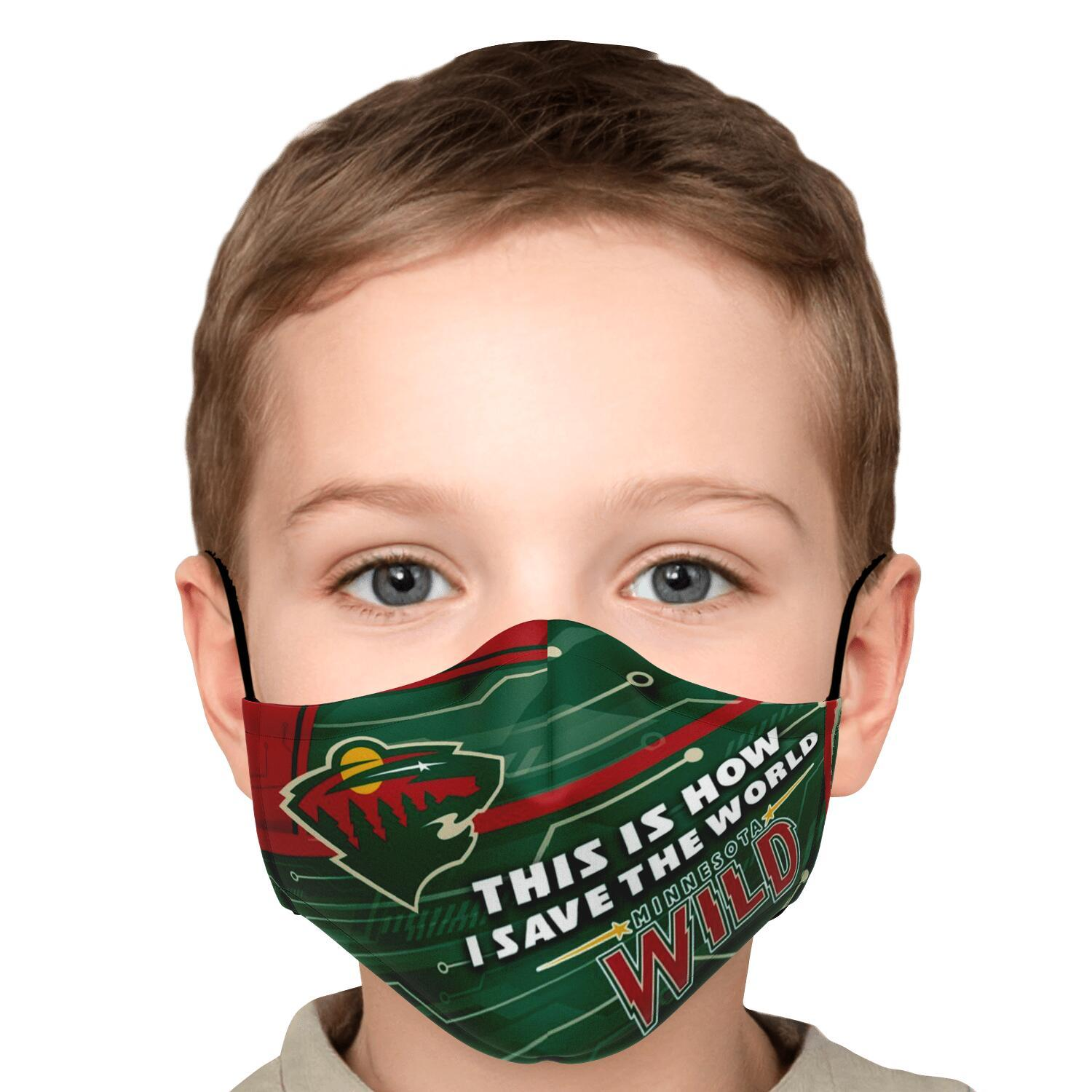 This Is How I Save The World Minnesota Wild Face Masks 5