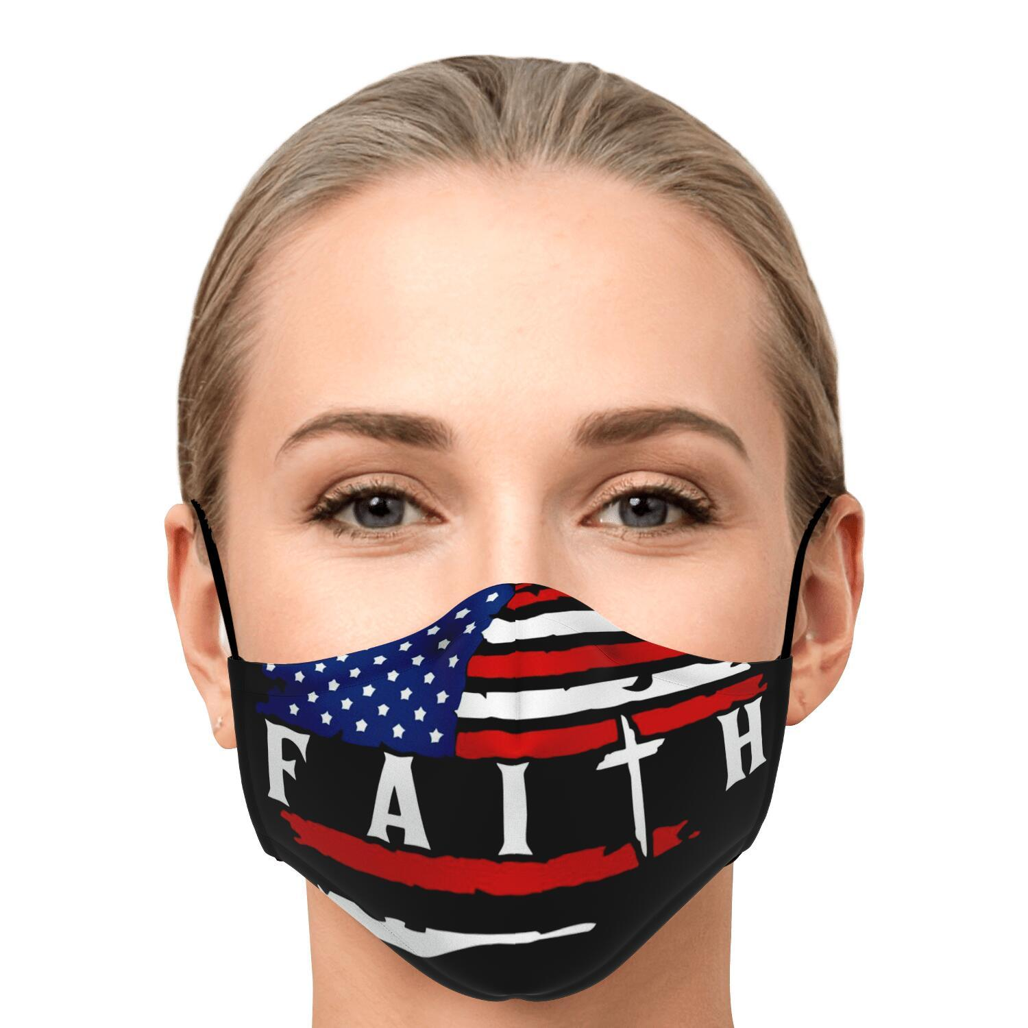 American Flag Faith Face Mask 1