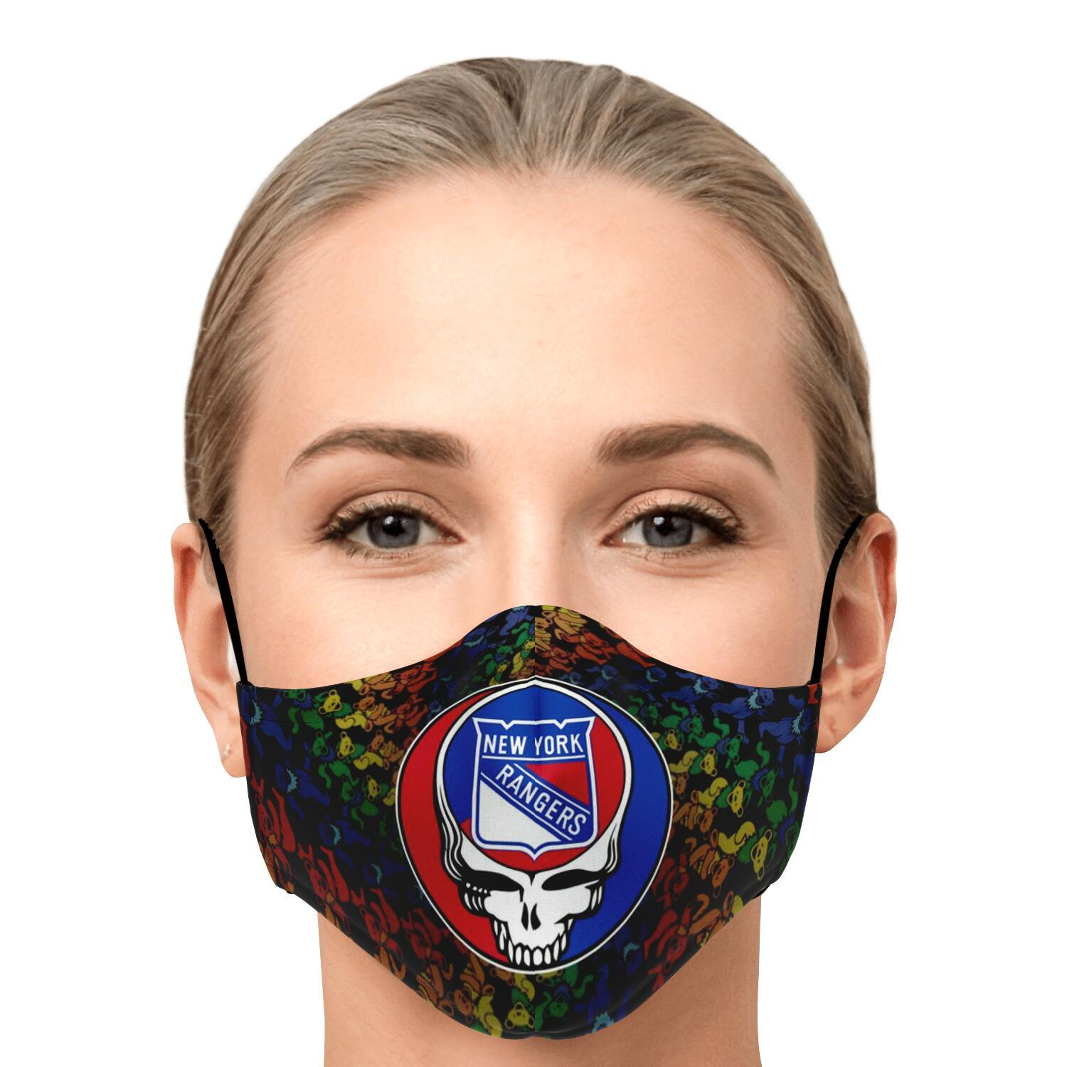 Steal Your Face Grateful Dead New York Rangers Face Mask 1