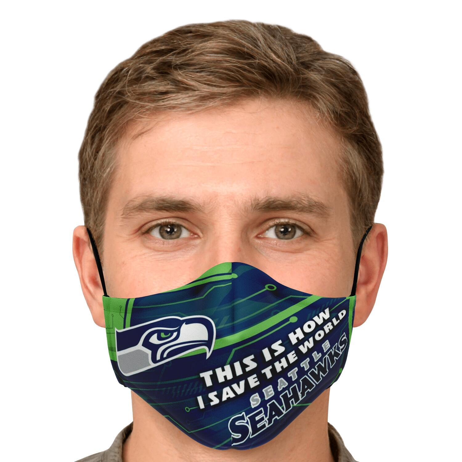 This Is How I Save The World Seattle Seahawks Face Masks 4