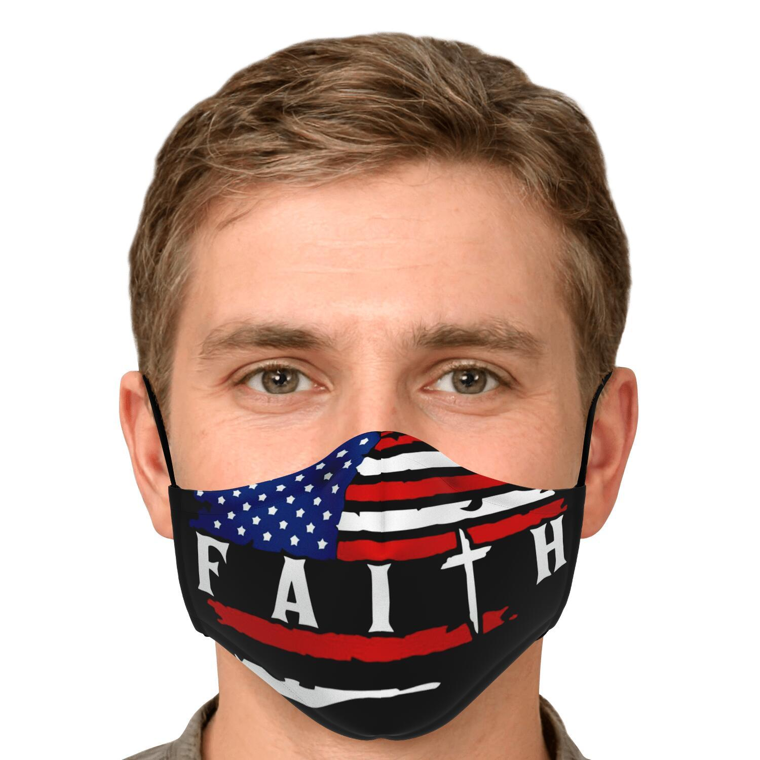 American Flag Faith Face Mask 4