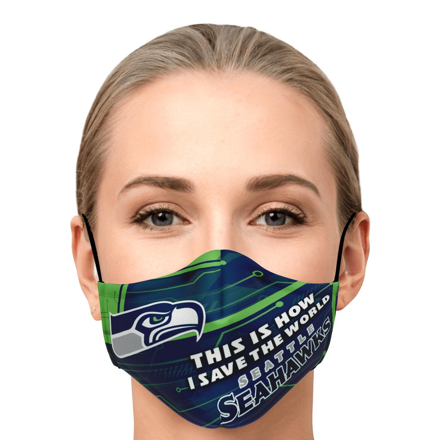 This Is How I Save The World Seattle Seahawks Face Masks 1