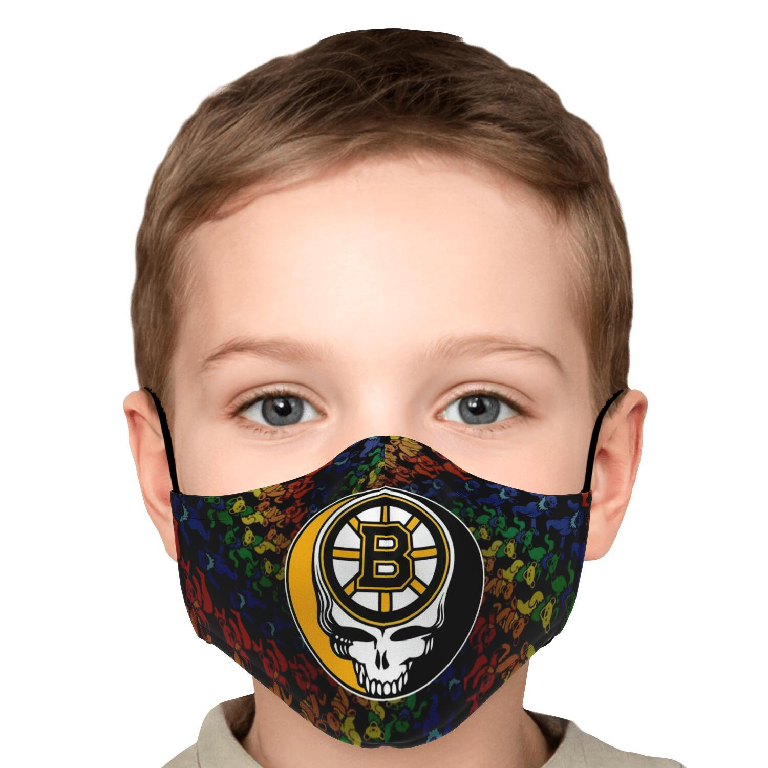 Steal Your Face Grateful Dead Boston Bruins Face Mask 5