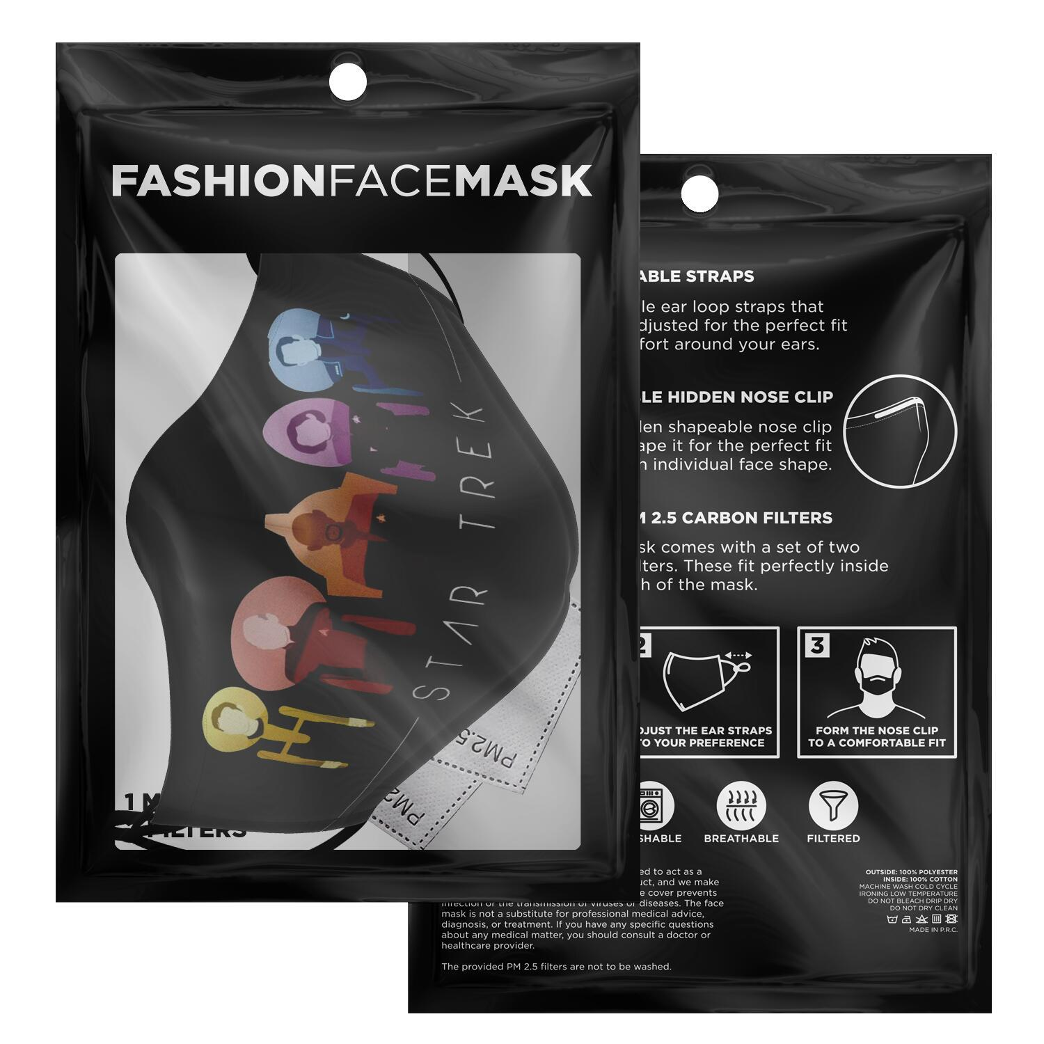 Starfleet Captains Star Trek Face Mask 2