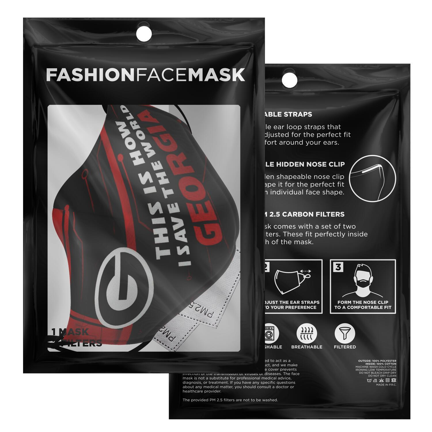 This Is How I Save The World Georgia Bulldogs Face Masks 2