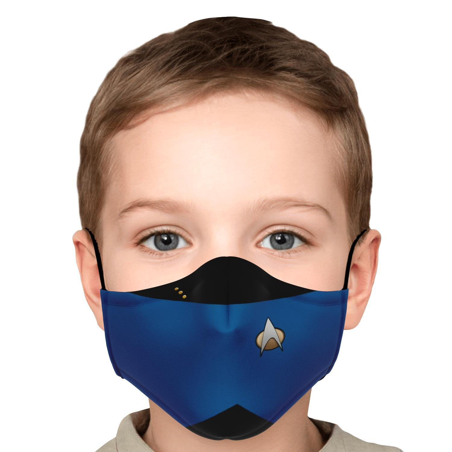 Star Trek Blue Shirt Face Mask 5
