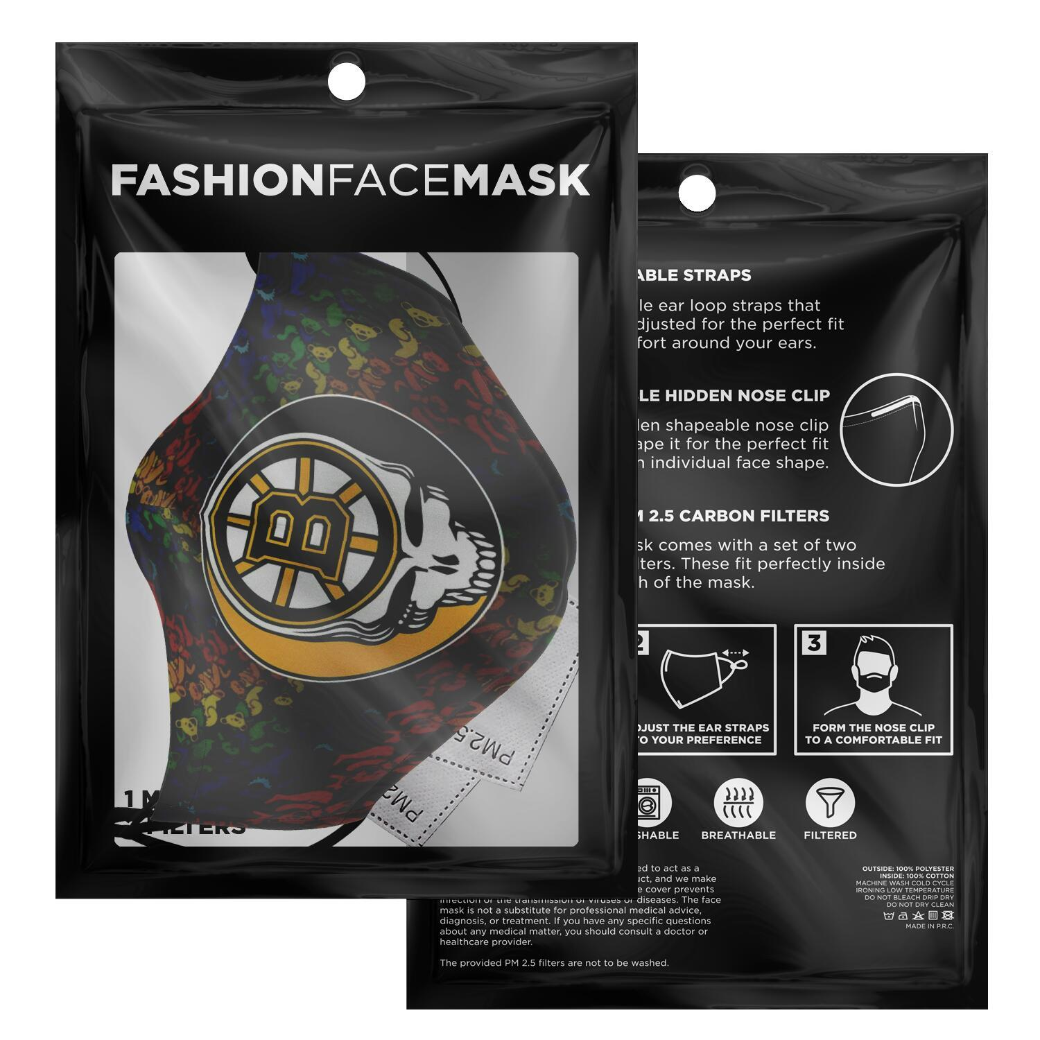 Steal Your Face Grateful Dead Boston Bruins Face Mask 7