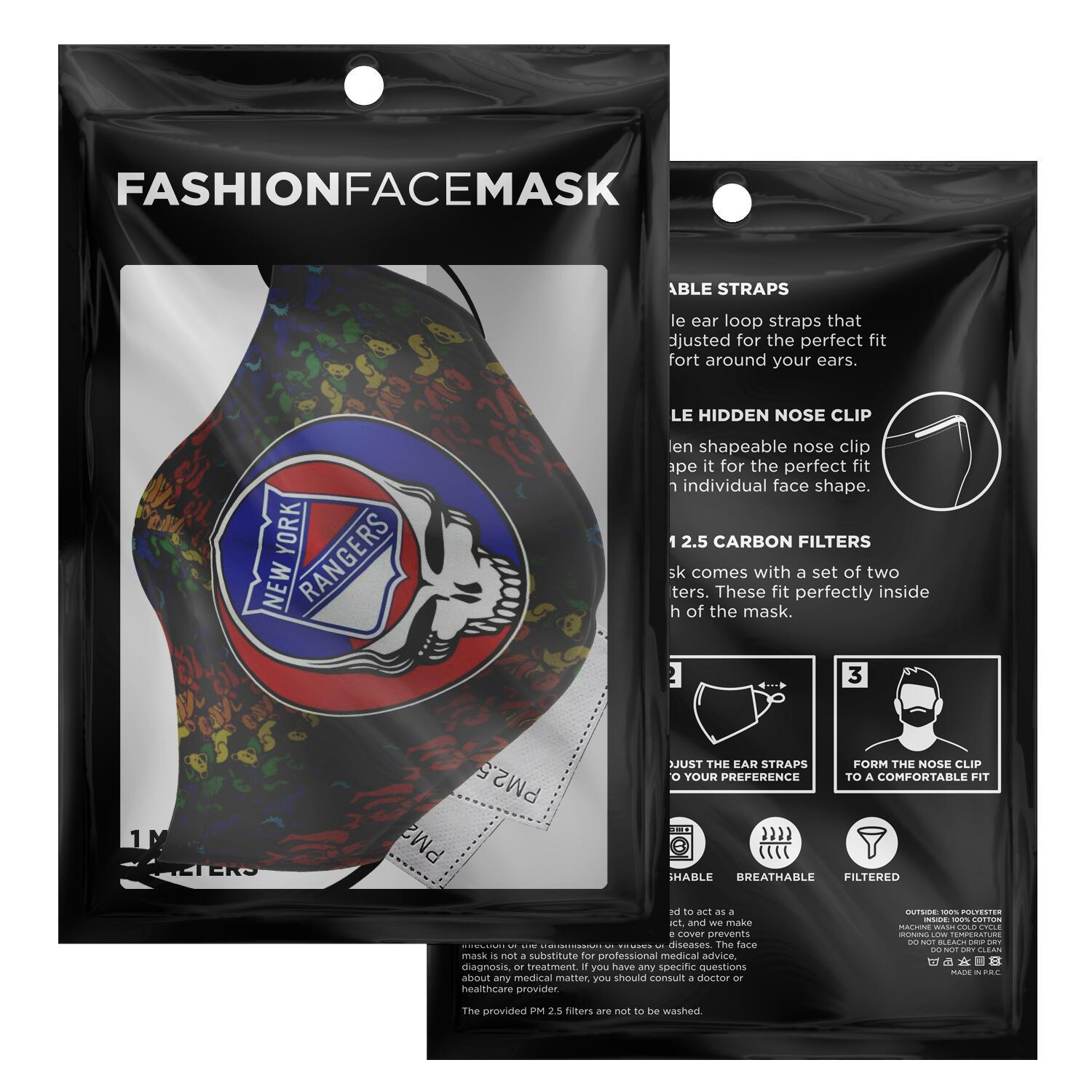 Steal Your Face Grateful Dead New York Rangers Face Mask 2