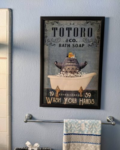 Totoro Wash Your Hands Poster photo review