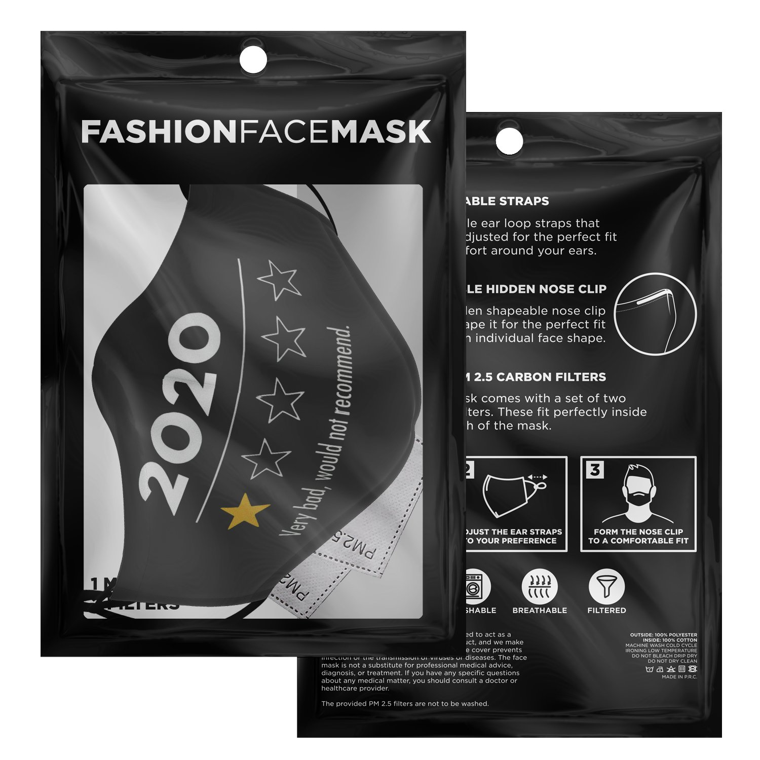 Very Bad Would Not Recommend 2020 Funny Review Face Mask 3
